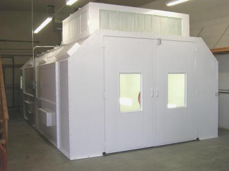 Automotive Semi Downdraft Paint Booths
