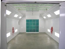 Automotive Semi Downdraft Spray Booths
