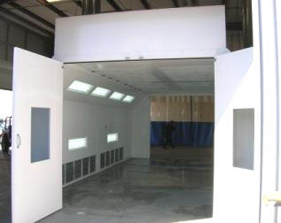 Automotive Downdraft Paint Spray Booths